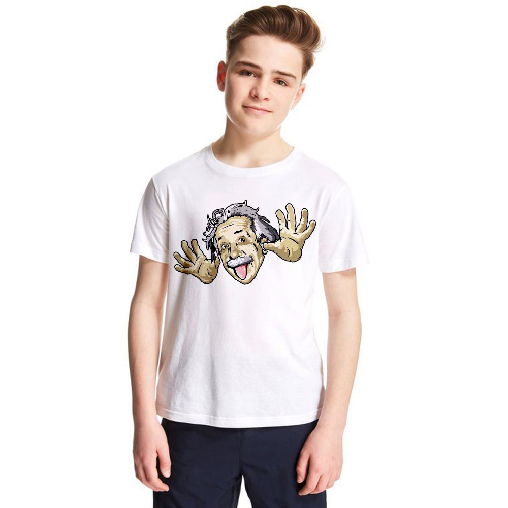 kids T-shirt Comical Albert Einstein T shirt boys girls Put His Tongue Out Funny children Top tees The Big Bang Theory clothes