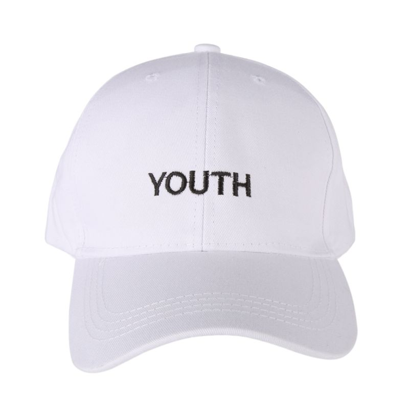 65e7f124b85 Korea Women Men Baseball Caps Youth Letter Embroidery Hats Casual Spring  Black White Hat Snapback Women s Cap Youth Letter-in Baseball Caps from  Apparel ...