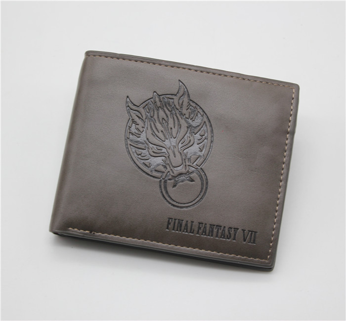 FINAL FANTASY PU Leather Wallet Billfold men and women students personality short cartoon fashion purse