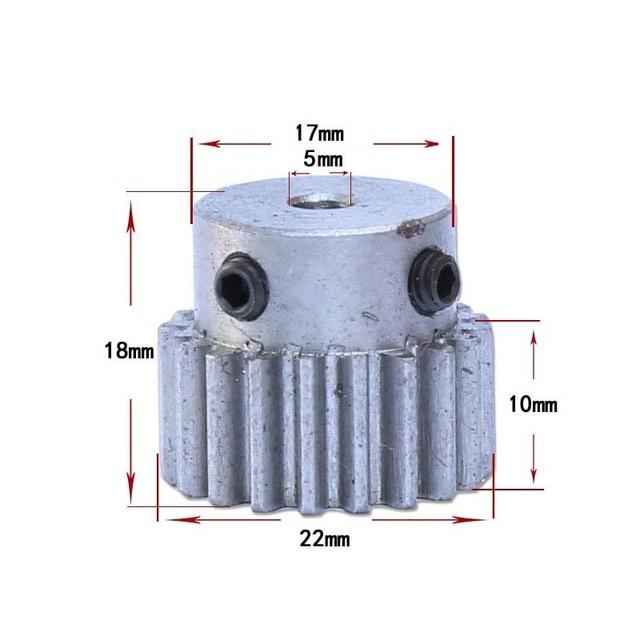 Zaawansowane 2 sztuk 5mm średnica otworu silnik metalowe kółko zębate moduł WK74