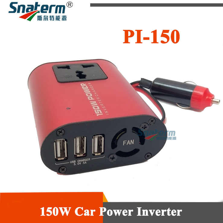 USB 150 W DC 12 V 220 V 50Hz Rumah Mobil Power Inverter Converter Mobil Charger Adaptor Mobil power Supply