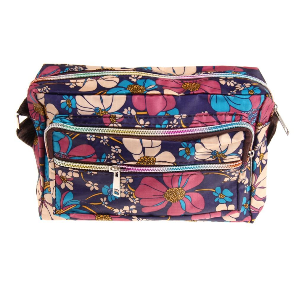 76d8951a34c47 2018 الكورية أزياء النساء حقيبة ساع قماش زهرة طباعة كروسبودي حقيبة ...