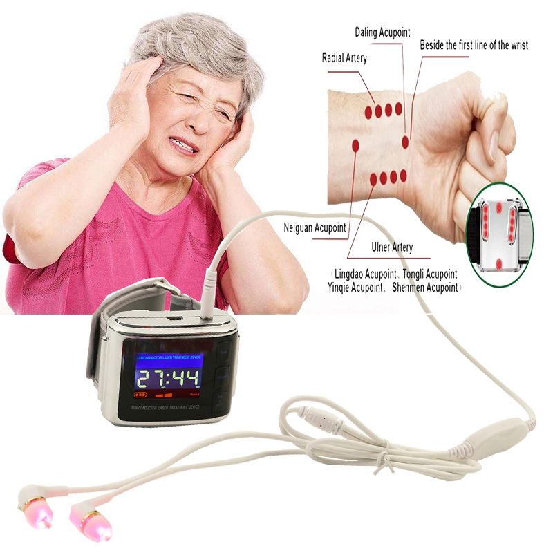 ATANG Laser Rhinitis Therapy High Blood Pressure Diabetes Cholesterol Tinnitus Treatment Cerebral Thrombosis Medical Device Ear portable home laser therapy device to lower blood sugar health brain clear blood enhancer resistance rhinitis treatment
