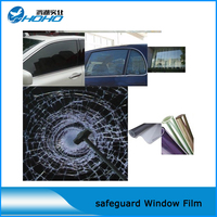 Finest Quality Window Safety Film Avoiding Injuries From Shattered Glass During Severe Weather 1 52 10m