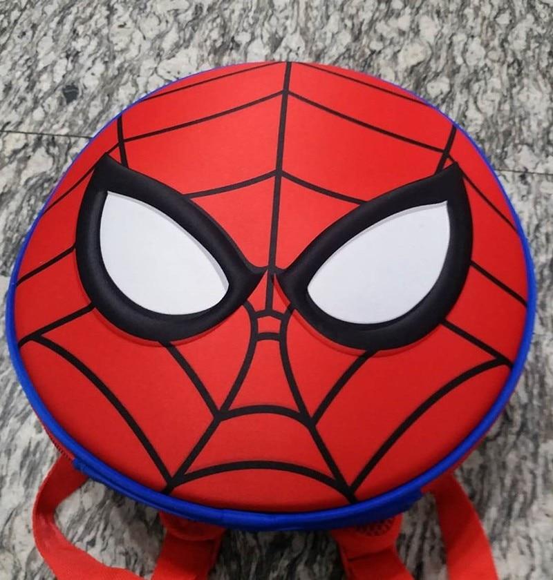 2018 New Round Spiderman Toddler Backpack  Book Bags For  Kids School Bags Kindergarten Backpack