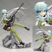 J.G Chen Anime Sword Art Online 2 Asada Shino Phantom Bullet PVC 22cm Action Figure toy Free Shipping
