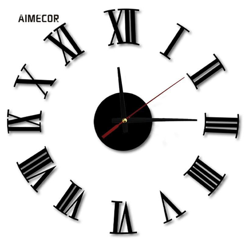 Aimecor Luxury Rome Vogue sienas radošais apdares pulkstenis Big DIY Digital 40-70cm sienas pulkstenis 1PC