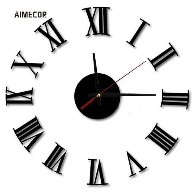 Aimecor Luxury Rome Vogue Wall Creative Decoration Clock Big DIY Digital 40-70cm Wall Clock 1PC