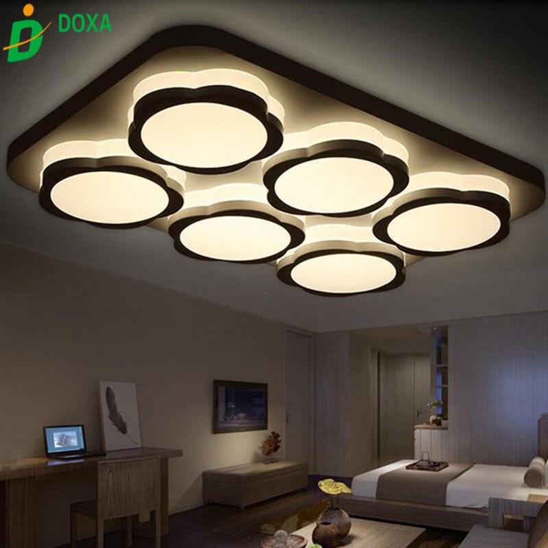 US $245.0  HOT Moderne led deckenleuchten für wohnzimmer acryl schlafzimmer  foyer licht armaturen plafoniere moderne lampe küche lampen 3 in 1-in ...