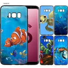 14c11e6d699 Encontrar Nemo novedad Fundas negro suave caso para Samsung Galaxy S9 S8  más S7 S6 borde