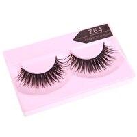 5 Sets of 10 Pairs 7# 764 False Eyelashes Pure Hand made Thick Long Voluminous Fake Lashes