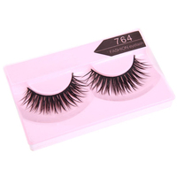 5 Sets of 10 Pairs 7# 764 False Eyelashes Pure Hand made Thick Long Voluminous Fake Lashes