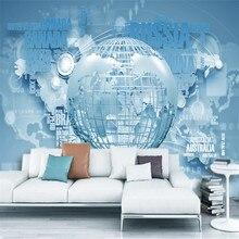 custom modern non woven wall mural 3d atmosphere business world map hd wallpaper