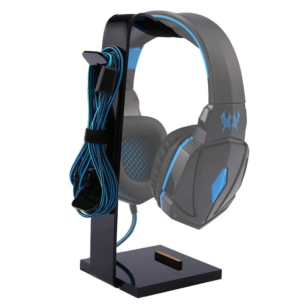 Acrylic Headphone Headset Holder Hanger Earphone WallDesk Display Stand Bracket Hanger Headphone Accessories