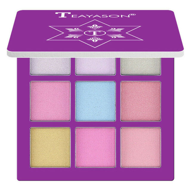 New 9 Colors Glitter Eyeshadow Makeup Pallete Matte Eye shadow Palette Shimmer Diamond Eyeshadow Powder Pigment Cosmetics 4