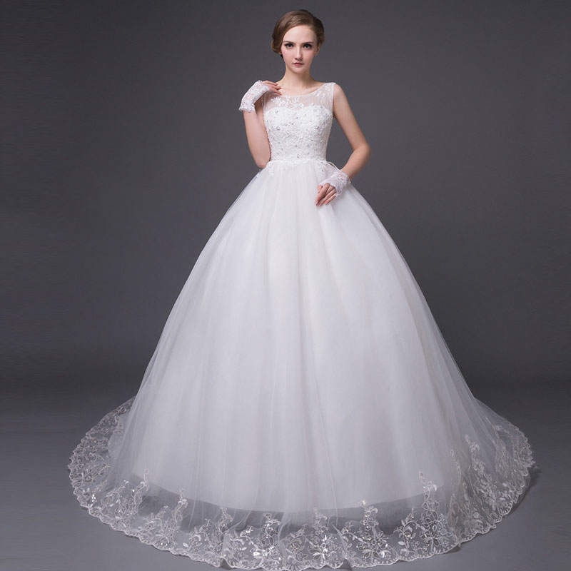 Aliexpress.com : Buy New Style Sexy Lace Wedding Dress Ball Gown ...