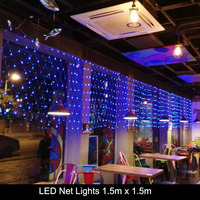 Free Shipping 1 5Mx1 5M 96LEDs AC 220V Outdoor LED Net Lights Christmas Fairy String Holiday