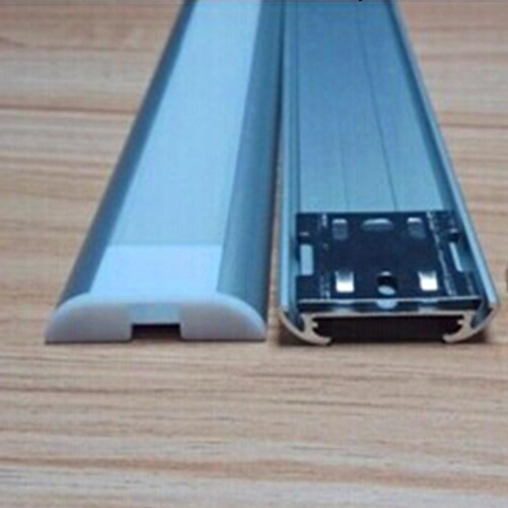 5pcs/lot led profile 1m long aluminium bracket with transparent ,milky cover , 25mm led aluminium profile,SN 3909