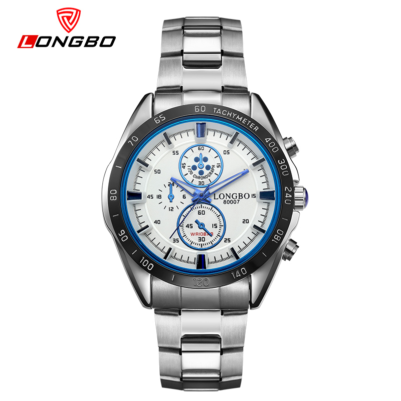 LONGBO Casual Mens Hour Top Brand Luxury Men's Quartz Watch Waterproof Sport Military Watches Men Relogio Masculino 8007B стоимость