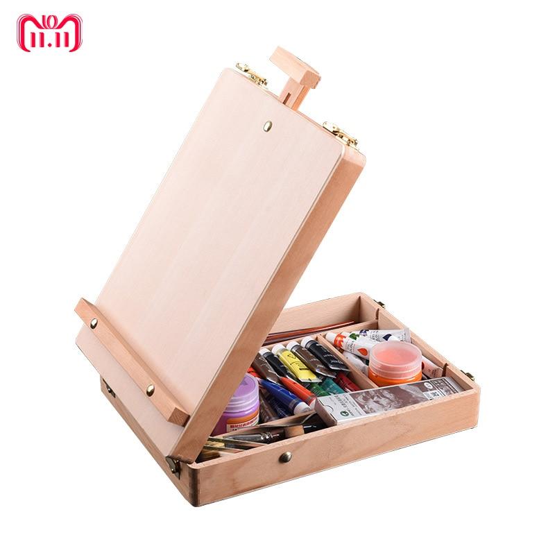 Chevalet en bois pour peinture croquis chevalet dessin Table boîte peinture à l'huile accessoires d'ordinateur portable peinture Art fournitures pour artiste enfants