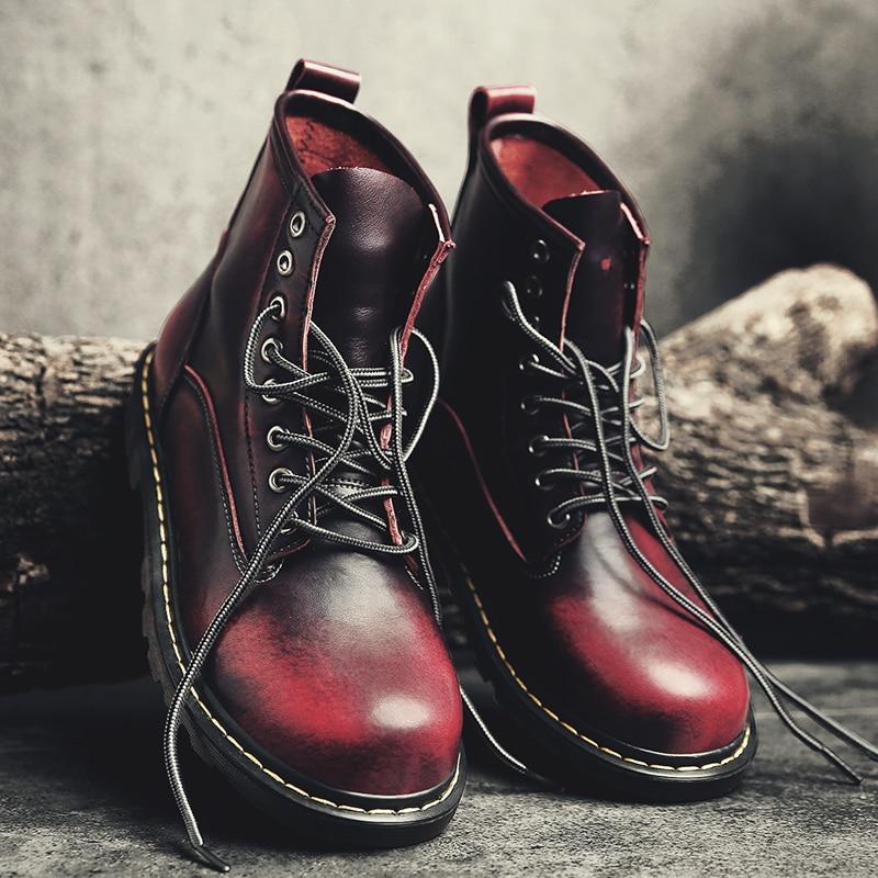 Best Buy Men 2019 Boots British Martins Vintage Punk Genuine Martin