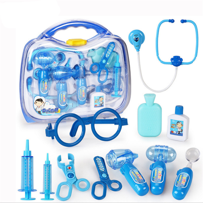 Classic Toys Doctor Toys Kit, Christmas Gifts Nurse Roleplay Baby Favorite Toys Stethoscope Syringe Scalpel Medical Brinquedos
