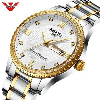 NIBOSI Relogio Masculino Спортивные Хронограф Мужские s часы лучший бренд класса люкс полный стальной кварцевые часы водонепроницаемые часы с большим циферблатом мужские