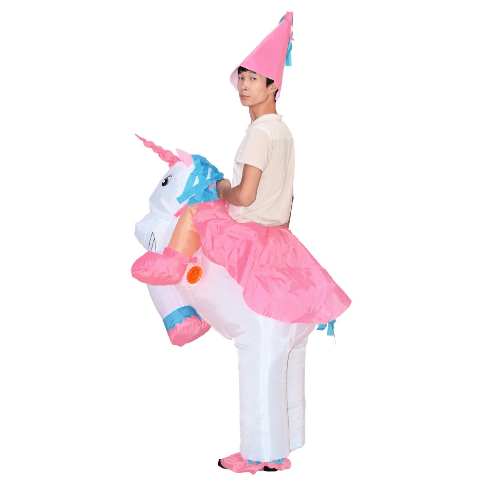 unicorn pony halloween horse inflatable costume for womens men adults kids cosplay onesies mascot miraculous holiday jumpsuit