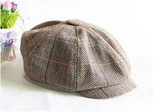 Autunno Inverno A Spina di Pesce Gatsby Ottagonale Tappo strillone Ragazzi  Tweed di Lana Cappelli di cd2114130e65