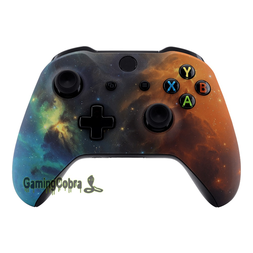Orange Star Universe Soft Touch Design Faceplate Upper Housing Shell for Xbox One X S Controller