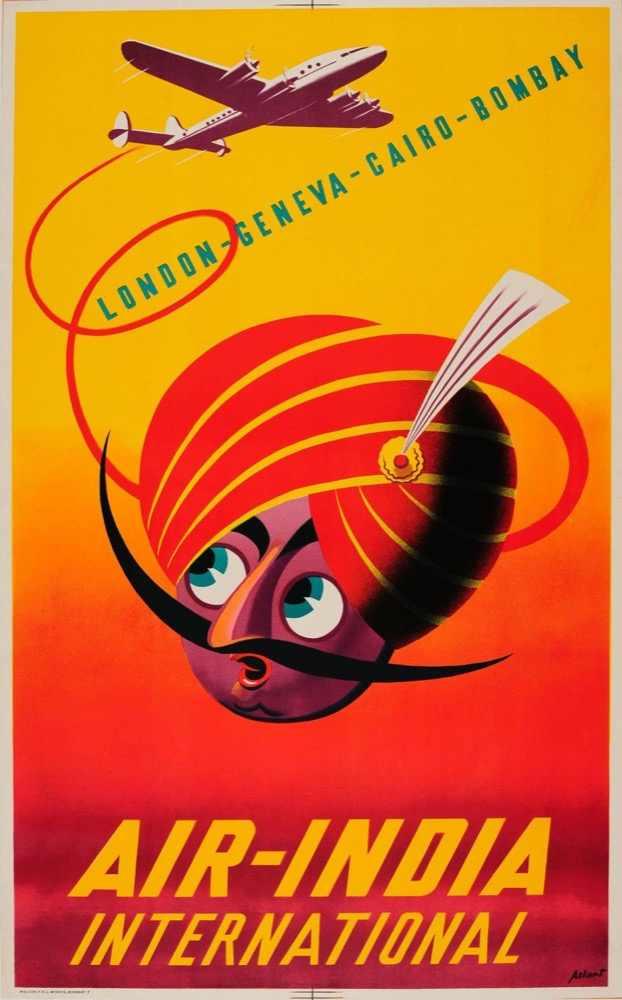 Vintage India viajes India Londres Retro póster lienzo pintura DIY pared papel carteles hogar Decoración regalo