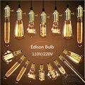 Decorativa Lâmpada Vintage Retrô Thomas Edison ST64 G95 G80 A19 Filamento De Carbono 40w Loft E27 Lâmpada incandescente Super Lindas classicas Luce Caldo