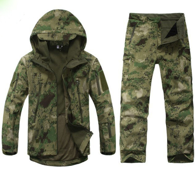 Winter-Autumn-Waterproof-Shark-Skin-Soft-Shell-Jacket-Set-Men-Tactical-CP-Camouflage-Jacket-Coat-Camo