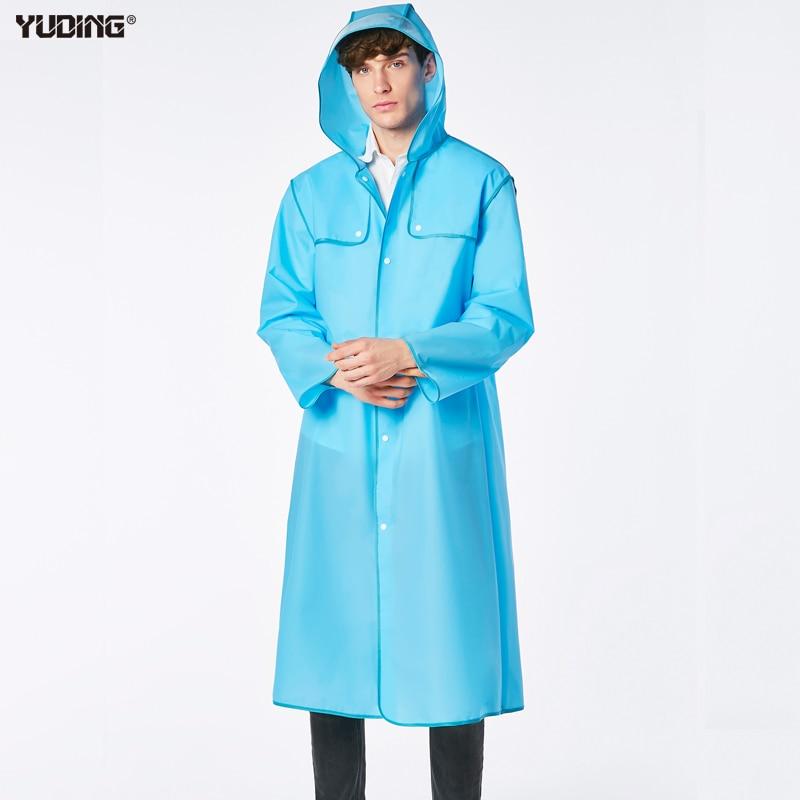Yuding 남자 비옷 투어 유니버설 남자 비옷 패션 판쵸 하이킹 여행 활주로 비옷 남성용