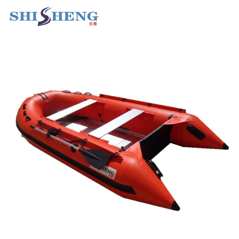 2018 hot sales red Inflatable Boat with Aluminum Floor 2017 aluminum floor inflatable folding boat 300cm army green and black for sale