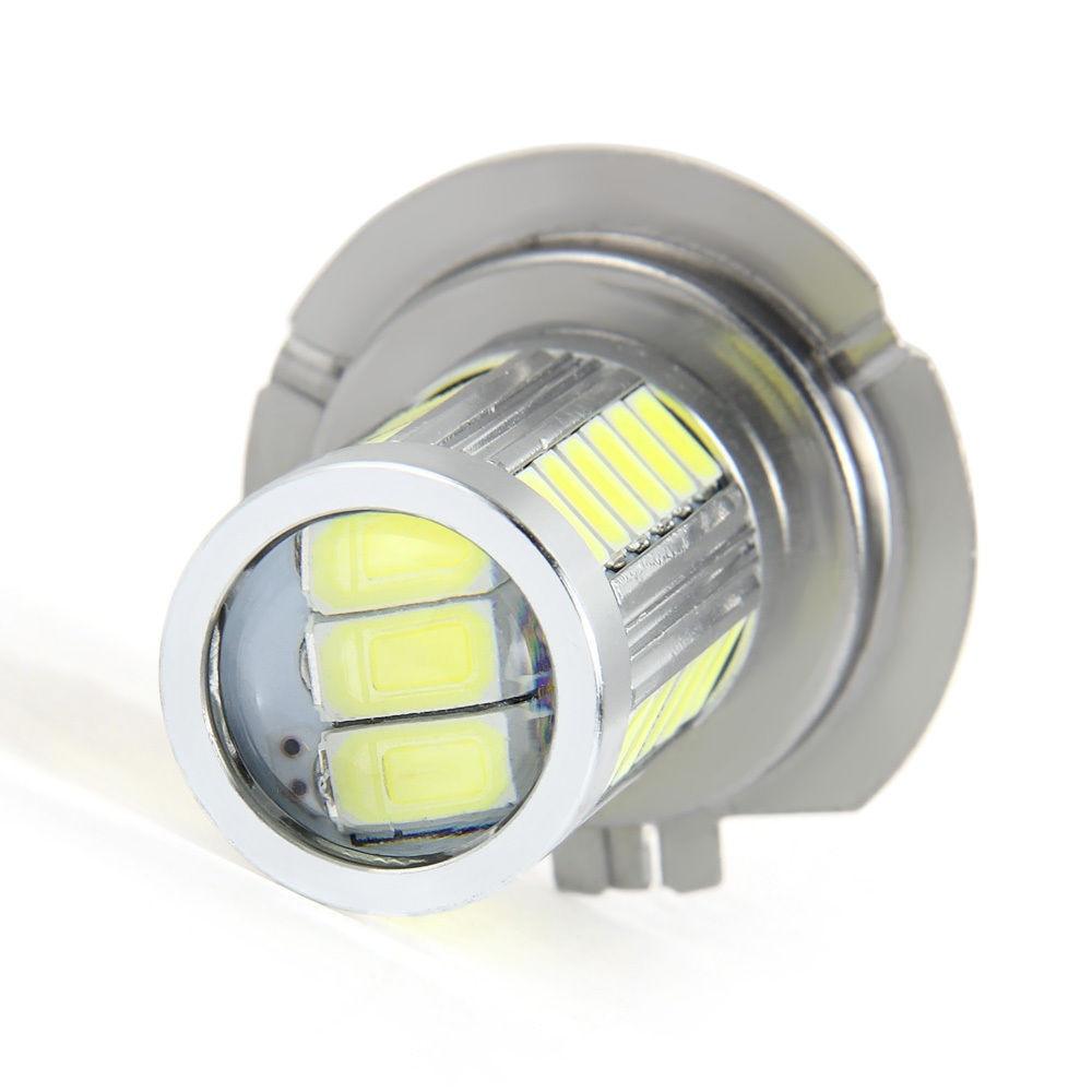 Car led H7 12W 12V Bulb Super Xenon White Fog Lights High Power Car Headlight Lamp parking Car Light Source DRL Car styling