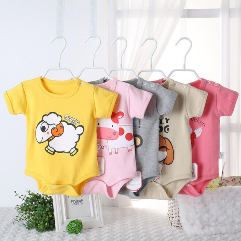 3113a700aa8c Factory Price Baby Rompers Summer Baby Boys And Girls Clothes Cartoon Newborn  Baby Short Sleeve Infant Jumpsuits Kids Costume