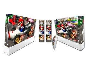 Image 2 - Mario dla Nintend konsola Wii Vinyl nalepka skórki pokrywy z 2 sztuk kontroler naklejka dla Wii Controle Gamepad Joypad Acessories