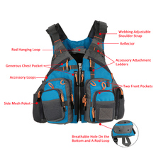 Fly Fishing Vest Backpack MultiPocket Safty Floatation 11 Pocket Outdoor Sports Outerwear Vest Army Green Carp Fish Accessory