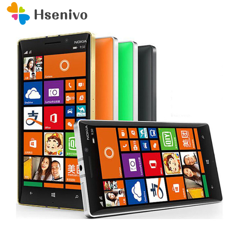 Téléphone portable d'origine Nokia Lumia 930 Quad core 2 GB RAM 32 GB ROM 20MP appareil photo 5