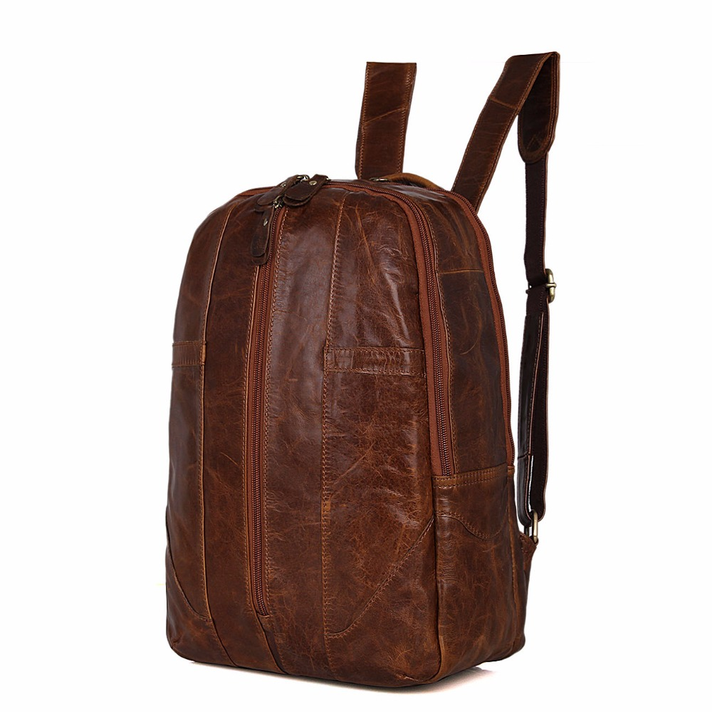 Augus Preppy Style Backpack Fashional And Classic Teenager Shoulder Bag Top Quality Cow Leather School Backpack 7244B 247 classic leather
