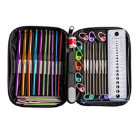 42 pcs/set Needles Crochet Hooks Multi Color Stainless Steel Sewing Knitting Needles Tools with Case for Handle Weave Craft Tool