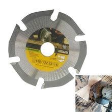 125mm 6T Kreissäge Klinge Multitool Grinder Saw Disc Hartmetall Holz Schneiden Disc Carving Disc Klingen für winkel Mühlen