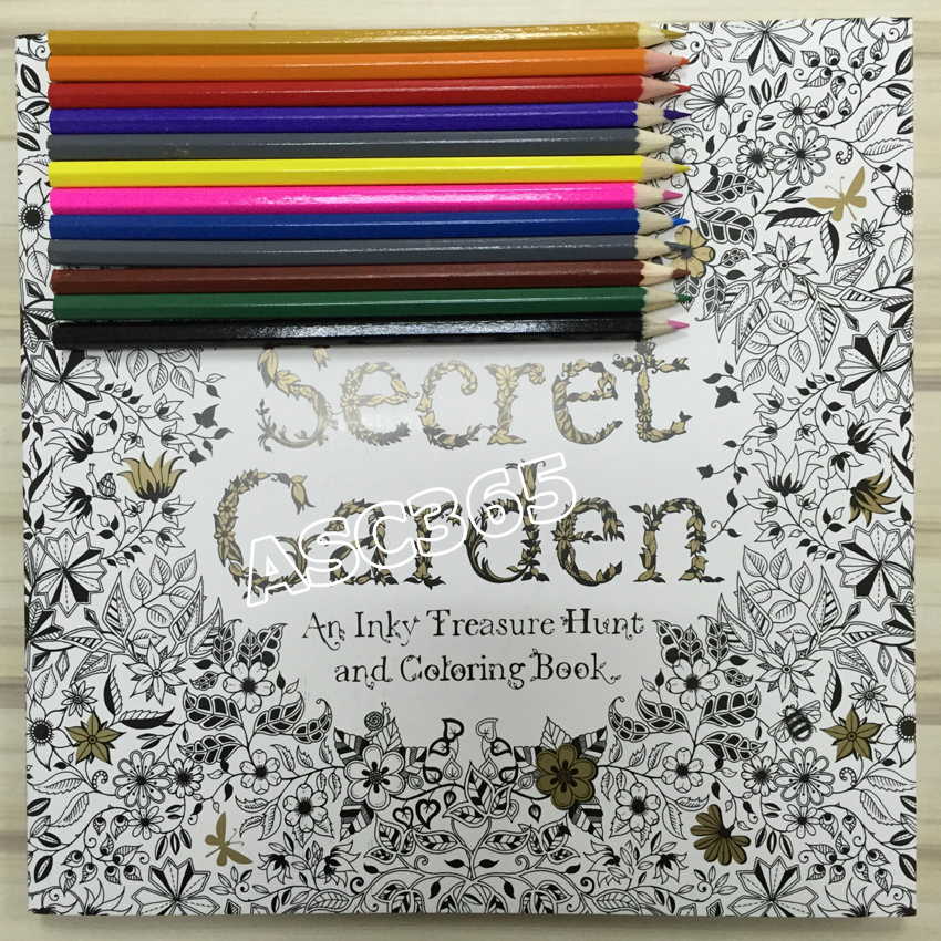 36 Color Pencils 96 Pages English Secret Garden Coloring Books For Adult Hand Drawn Relieve Stress Graffiti Painting Libros In From Office School