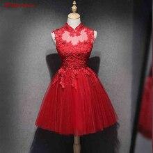 Красные короткие кружевные платья для выпускного вечера милые короткие платья для выпускного вечера коктейльные платья из тюля mezuniyet elbiseleri