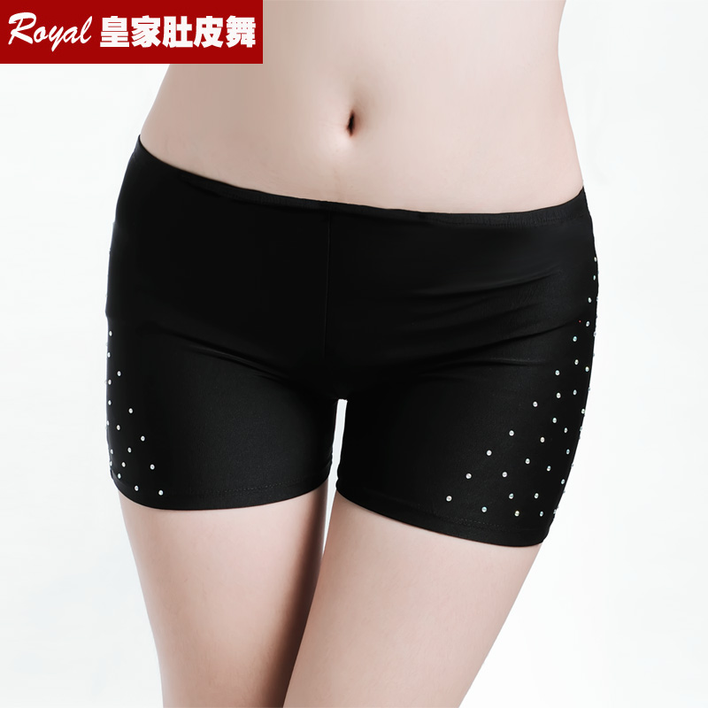 Hot Sale New Sexy  Rhinestone Safety Shorts Bellydancing Pants Belly Dance Costume Hot Short Pant For Performance 13colors -9010