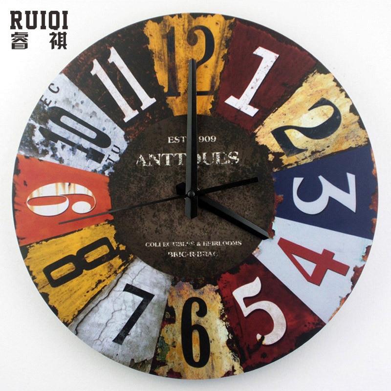Compra grandes relojes de pared decorativos online al por - Relojes decorativos pared ...