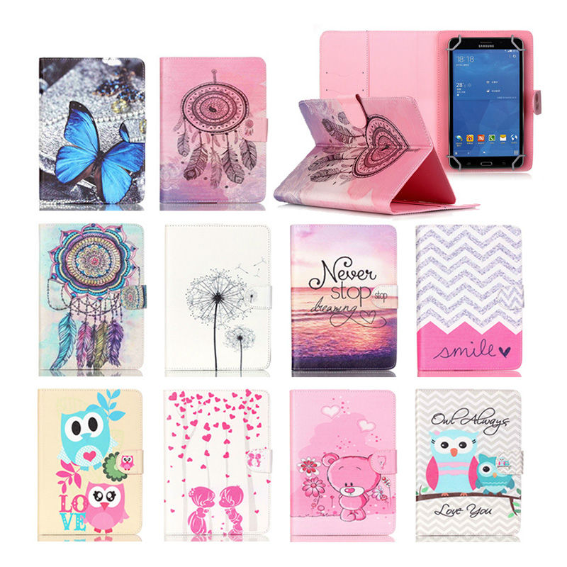 8 Universal Tablet PU Leather Case For Sony Xperia Z3 Compact 8.0 inch Tablet cover Printed Stand cases Y4D69D