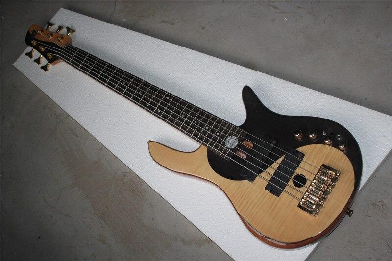 Usine Personnalisé Tai Chi motif Corps En Aulne 6 cordes Deluxe Électrique Basse Guitare livraison gratuite 1 2