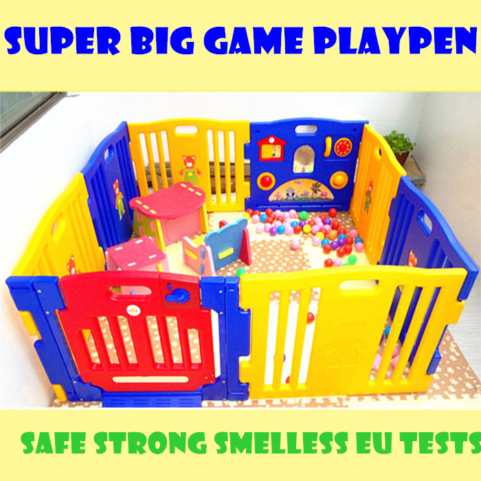 High Quality Baby Game Playpen Solid Color Strong Game Fence No Smell Baby Toy Fences African Swiss Voile Lace High Quality